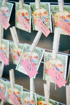 We are completely mad about these wildflower seed escort cards. Such a sweet treasure to take home with you! REVEL: Wildflower Seed Escort Cards -- love, but in October? Winter Wedding Favors, Rustic Wedding Favors, Boho Wedding, Wedding Reception, Wedding Decor, Wedding Wall, Wedding Unique, Wedding Souvenir, Table Wedding