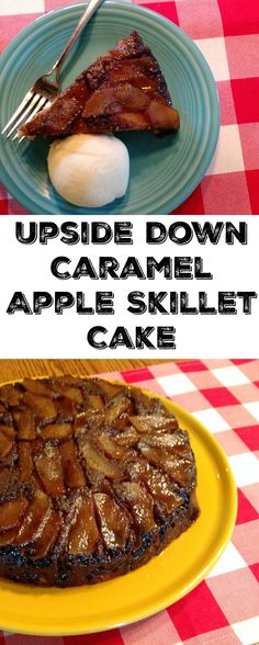 This Upside Down Caramel Apple Skillet Cake is full of delicious caramel apple flavor and is simple to make. Plus there is just something about caramel, apples and cast iron that seems like they belong together! Apple Desserts, Delicious Desserts, Dessert Recipes, Baking Recipes, Cake Recipes, Yummy Food, Best Apple Recipes, Sweet Recipes, Yummy Recipes
