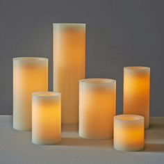 7 sizes! The wax exterior of these Flameless Candles gives the appearance of regular candles, but the battery-operated LED within makes them safe to use anywhere.