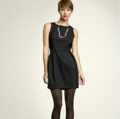 GAP classic black dress Classic, conservative black dress- perfect for work or play, dressed up with a statement necklace or paired with a cardigan.  Lined skirt with darts, boatneck collar. GAP Dresses Midi