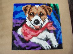 Dog hama perler beads by Shazann