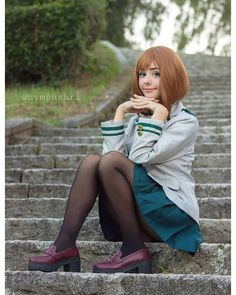 Which is your favorite shipping on BNHA? 👀 Most of you hate when I spam Kacchako, but let's be rea Uraraka Cosplay, Cosplay Makeup, Best Cosplay, Cosplay Ideas, Boko No Hero Academia, Cos Play, Kawaii Girl, Naruto, Outfits