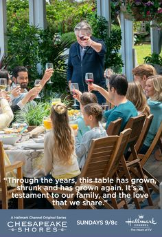 Bring your family together on Sunday nights for new episodes of Chesapeake Shores!  #Chessies #ChesapeakeShores #HallmarkChannel