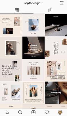 Instagram Feed Ideas Posts, Instagram Feed Layout, Feeds Instagram, Instagram Design, Instagram Grid, Instagram Shop, Design Websites, Design Presentation, Animated Gifs