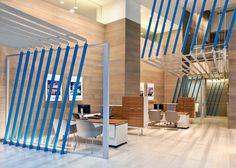 Custom aluminum profile extrusions total almost 4,000 linear feet in this bank project, the flagship and largest location of three in downtown New York...