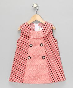 Take a look at this Coral Color Block Dress - Infant, Toddler & Girls by Dress Du Jour Collection on #zulily today!