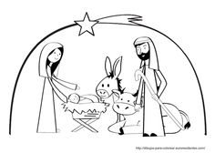 Christmas - Nativity Coloring Sheet.