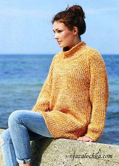 Длинный свитер реглан