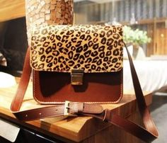 Leopard Grain Messenger  ...love animal prints...