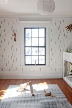 DIY Taiga stencil long, Remodelista- Love the idea of stenciling the walls in Oliver's room!!!!