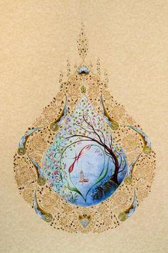 Tree Of Life Painting, Persian Pattern, Turkish Art, Shape Art, Diy Carpet, Islamic Calligraphy, Dot Painting, Persian Carpet, Islamic Art