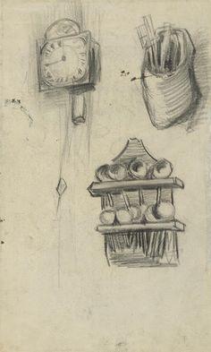 Klok, klomp met bestek en een lepelrek, 1885, Vincent van Gogh, Van Gogh Museum, Amsterdam (Vincent van Gogh Stichting)