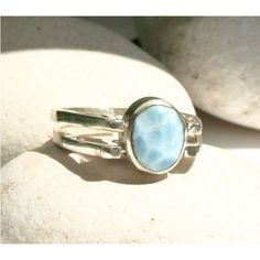 Dominican Larimar and Amber Sterling Silver Two in one Ring... ($53) ❤ liked on Polyvore featuring jewelry, polish amber jewelry, sterling silver jewelry, sterling silver amber jewelry, amber jewelry and amber jewellery