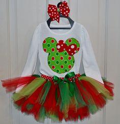Minnie Mouse Christmas Tutu Set for Rachel Minnie Mouse Christmas, Christmas Tutu, Christmas Costumes, Mickey Minnie Mouse, Disney Christmas, Christmas And New Year, Christmas Crafts, Christmas Outfits, Christmas Ideas