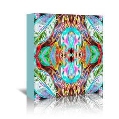 Mercury Row Blue Leaves 2 Graphic Art on Wrapped Canvas Size: