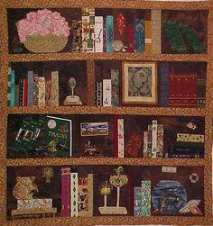 Quilt that looks like a bookshelf!