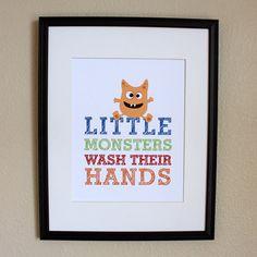 Cute print for the boys bathroom