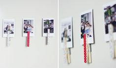 DIY Washi Tape Clothes Pin Magnets by Sausage Jar