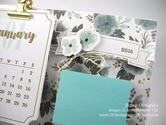 One Great Year Photo Frame Calendar & Sticky Notes Video & PDF