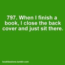 I do this after every book!