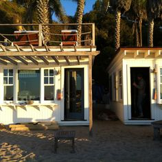 Beach cabins Malibu Beach (via West Elm blog) This would be perfect for when Nikki and I move to Cali