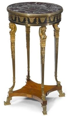 A 19TH CENTURY FRENCH GILT AND PATINATED BRONZE TABLE