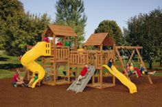 Kids garden and playset for fun in the backyard. PlayStar Super Star Gold Factory Built Playset at Menards