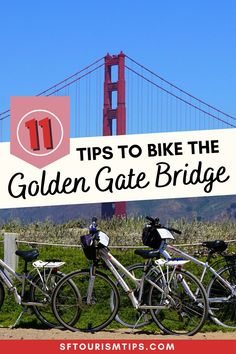 Are you excited to bike across the Golden Gate Bridge? Use my helpful guide that offers 11 tips for those planning this fun adventure. You'll also find maps that tell you all about the route, so you can prepare for this San Francisco tour before you arrive! San Francisco Vacation, San Francisco Travel, Packing List For Vacation, Vacation Trips, San Francisco With Kids, Travel Expert, Travel Tips, Usa Places To Visit, Travel Activities