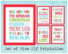 I love the movie Elf!!  Set of Five Buddy the Elf Printables.