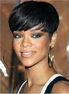 120% Full Lace Cap Straight Short Human Hair