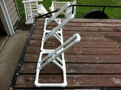 PVC Bike Rack DIY Plans DIY Ideas If you are looking for a bike storage solution that is efficient and lightweight, then the PVC Bike Rack DIY option is just what you are looking for. Pvc Bike Racks, Truck Bed Bike Rack, Bike Wagon, Diy Bike Rack, Bicycle Storage, Diy Caravan, Bike Gadgets, Bike Storage Solutions, Range Velo