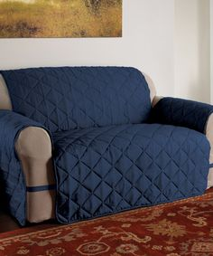 Loving this Navy Microfiber Ultimate Furniture Cover on #zulily! #zulilyfinds