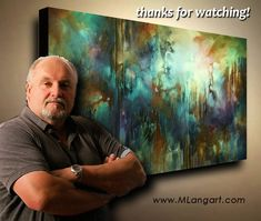 Abstract Art painting 'Edge of Dreams' Modern, contemporary, Mix Lang How to DEMO