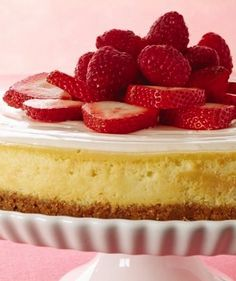 Top off your delicious cheesecake with fresh Strawberries and Blueberries, to create our Blossoming Berry Cheesecake recipe. Berry Cheesecake, Cheesecake Recipes, Dessert Recipes, Conch Fritters, Greens Recipe, Graham Crackers, No Cook Meals, Blueberries, Blueberry
