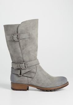 Suede Boots (Gray, Buckles) Size: 10 http://www.maurices.com/p/shoes/boots/N-10656