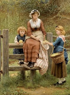 Cowslips by George Dunlop Leslie. 1877