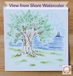 "Allison {A Glimpse Inside} on Instagram: ""I've been watching the sail boats floating by in the Atlantic this week off the coast of France so today's Watercolor Wednesday painting is…"""