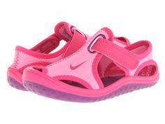 Nike Kids Sunray Protect (Infant/Toddler) Pink Glow/Vivid Pink/White/Bright Grape - 6pm.com