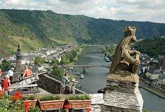 Gargouille -  Le château du Reichsburg - Cochem - Land : Rhénanie - Palatinat