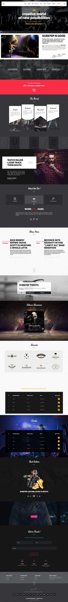 Dubstep is unique and creative premium bootstrap #template for #music #artist…