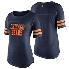 Get this Chicago Bears Ladies Rewind Tr-Blend T-Shirt at ChicagoTeamStore.com