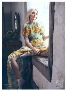 Abbey Lee Kershaw in Rodarte: Bloom Forth - Vogue China photographed by Lachlan Bailey, May 2012