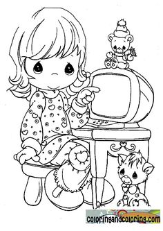 I have an older picture almost like this of my daughter.....so I can't wait to color this and then frame them together.