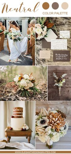 10 Swoon-Worthy Neutral Wedding Color Palette Ideas 10 Swoon-Worthy Neutral Wedding Color Palette Ideas warm brown fall and winter wedding color palette 10 Swoon-Worthy Neutral Wedding Color Palette Ideas warm brown fall and winter wedding color palette Country Wedding Colors, Neutral Wedding Colors, Winter Wedding Colors, Winter Wedding Decorations, Fall Wedding Flowers, Wedding Color Schemes, Decor Wedding, Wedding Ideas, Summer Wedding