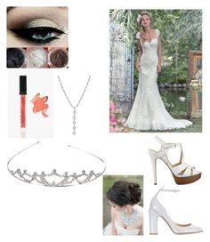 """""""What I might be wearing for my Wedding"""" by elise-miculka on Polyvore featuring Maggie Sottero, GUESS, Valentino, Manna Kadar Cosmetics and Tiffany & Co."""