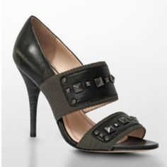 Plenty Tracy Reese peep toe heels army madden bcbg Worn once. Tracy Reese brand From Neiman Marcus. Originally $350. Size 39. Real leather. **** other people selling this same shoe for over $100 on PM! Zara Shoes Heels