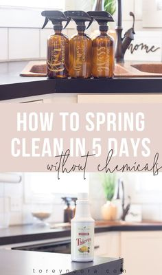 how to spring clean your house in 5 days with no chemicals! happy spring! x  #springcleaning #howtospringclean #chemicalfree #notoxins #toxinfree #ylessentialoils #thievescleaner #thievesforpresident #thieves #essentialoilsforlife #youngliving #healthymama #oilylife #immunesupport