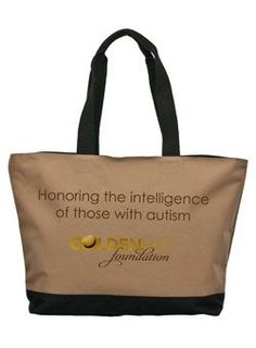 The Golden Hat Foundation tote...Kate Winslet's foundation for autism