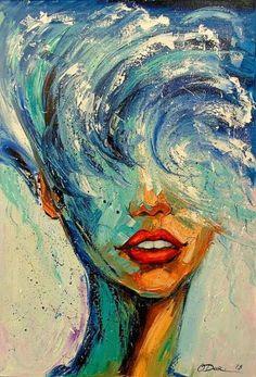 Olha Darchuk Girl Wave Olha Darchuk Girl Wave Renate Bilder 2018 Oil on canvas x cm art artwork painting joseartgallery canvasprints nbsp hellip Painting artists Art Inspiration Drawing, Art Inspo, Fond Design, Painted Ladies, Portrait Paintings, Wave Paintings, Art Oil Paintings, Portrait Art, Woman Painting