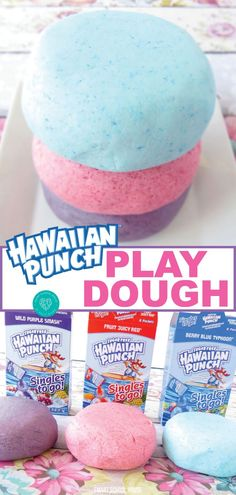 Welcome summer with delicious and fun Hawaiian Punch play dough. This easy to make play dough is not only edible, but also fun to play with. Your kids will enjoy the fruity smell as they play and create. No need to worry about a little sampling while they play. Try this fun Hawaiian Punch play dough recipe with your kids today. #playdough #hawaiianpunch #summer #create #play-doh #diy #edible #smartschoolhouse